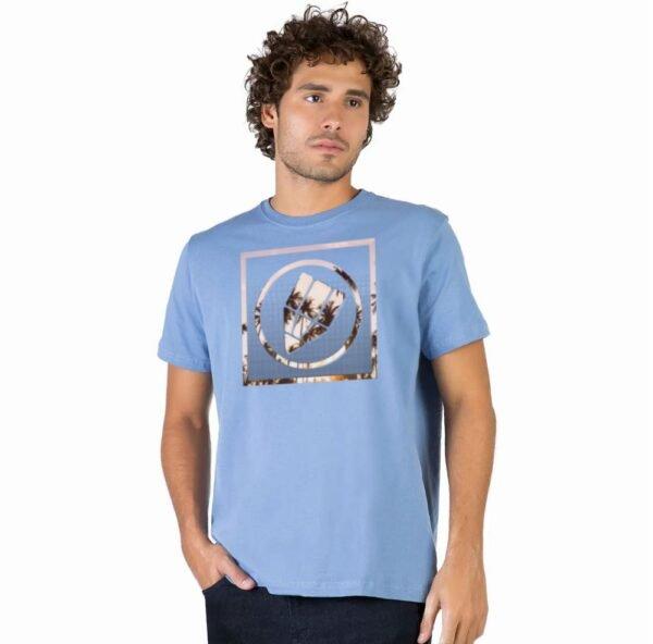 Camiseta Masculina Conceito Prisma Estampa Escudo Coqueiro
